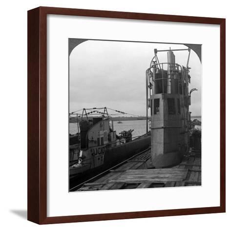 Conning Tower of a Mine-Laying German U-Boat, World War I, 1914-1918--Framed Art Print