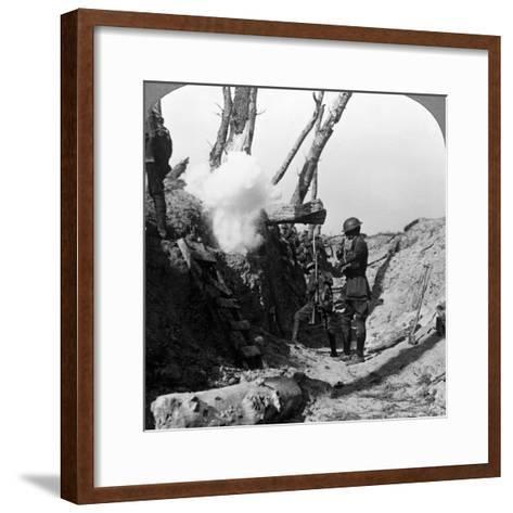 Soldiers Waiting in the Trenches to Go over the Top, World War I, 1914-1918--Framed Art Print