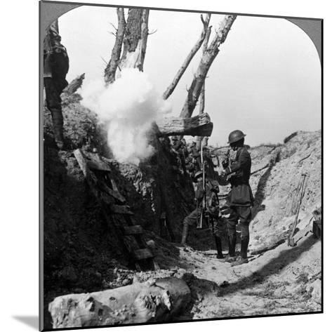 Soldiers Waiting in the Trenches to Go over the Top, World War I, 1914-1918--Mounted Photographic Print