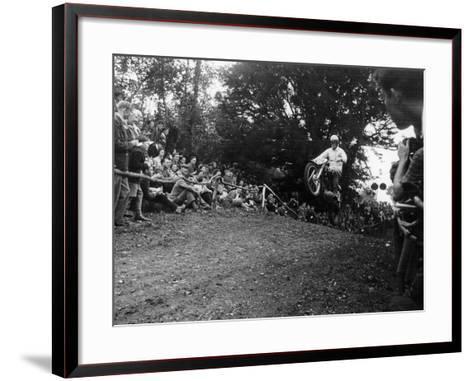 Brian Stonebridge Riding a 498 Matchless at Brands Hatch, Kent, 1952--Framed Art Print