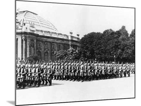 German Troops Parading before the German Commandant of Paris, 8 July 1941--Mounted Photographic Print