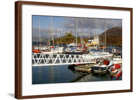 Kyleakin Harbour and Castle Moil, Skye, Highland, Scotland-Peter Thompson-Framed Art Print