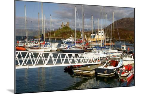 Kyleakin Harbour and Castle Moil, Skye, Highland, Scotland-Peter Thompson-Mounted Photographic Print