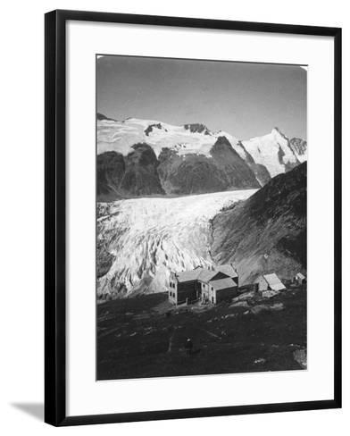 Glocknerhaus, Grossglockner, Austria, C1900s-Wurthle & Sons-Framed Art Print