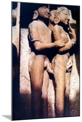 Erotic Sculpture, Hindu Temple, Khajuraho, India, 950-1050--Mounted Photographic Print