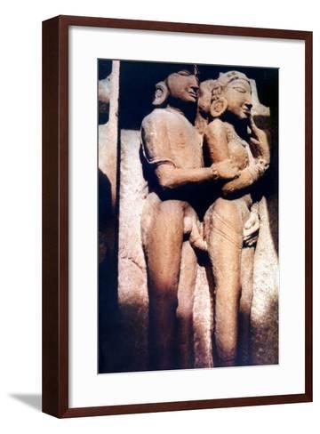 Erotic Sculpture, Hindu Temple, Khajuraho, India, 950-1050--Framed Art Print
