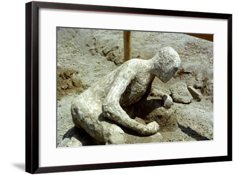 Person Killed by the Pompeii Eruption, 79 Ad--Framed Art Print