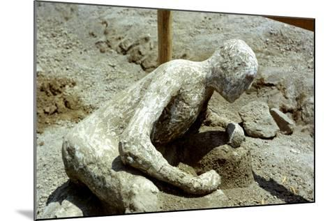 Person Killed by the Pompeii Eruption, 79 Ad--Mounted Photographic Print