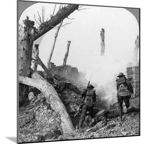 British Troops Attacking Germans Isolated in a Captured Village, World War I, C1914-C1918--Mounted Photographic Print