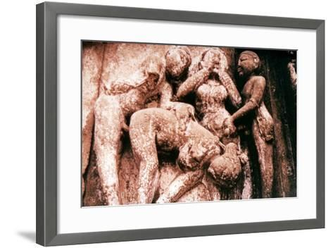Erotic Sculpture, Hindu Temple, Khajuraho, India, 950-1050--Framed Art Print