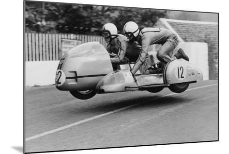 Sidecar TT Race, Isle of Man, 1970--Mounted Photographic Print