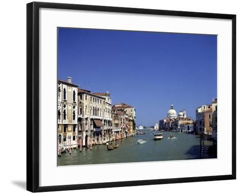 The Grand Canal and San Salute from Accademia Bridge, Venice, Italy-Peter Thompson-Framed Art Print