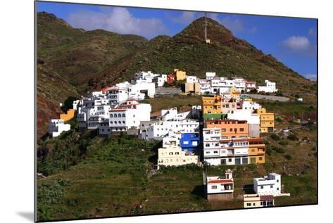 Houses Above the Town on a Mountainside, San Andres, Tenerife, Canary Islands, 2007-Peter Thompson-Mounted Photographic Print