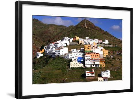 Houses Above the Town on a Mountainside, San Andres, Tenerife, Canary Islands, 2007-Peter Thompson-Framed Art Print