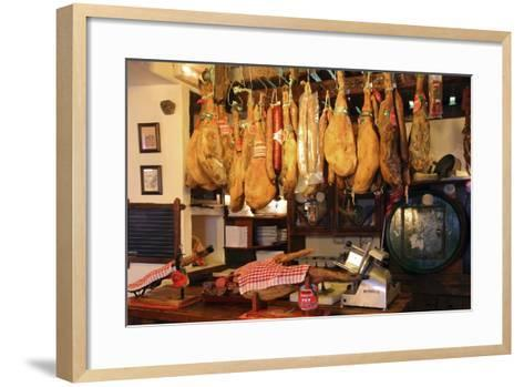 Hams for Sale, Casa De Miranda, Puerto De La Cruz, Tenerife, Canary Islands, 2007-Peter Thompson-Framed Art Print