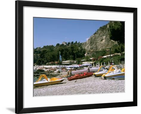 Mendolia Beach, Taormina, Sicily, Italy-Peter Thompson-Framed Art Print