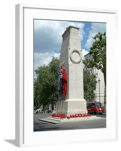 The Cenotaph, Whitehall, London-Peter Thompson-Framed Art Print