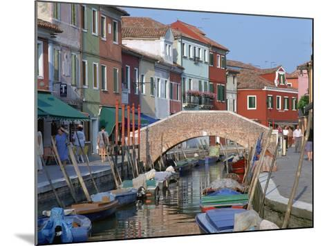 Canal, Burano, Venice, Italy-Peter Thompson-Mounted Photographic Print