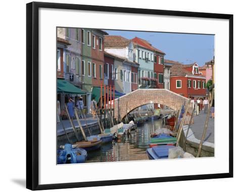 Canal, Burano, Venice, Italy-Peter Thompson-Framed Art Print