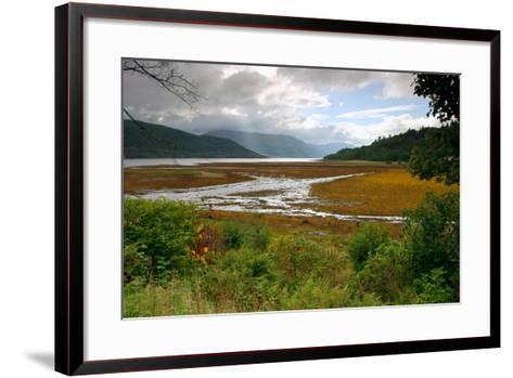 Loch Sunart from Strontian, Highland, Scotland-Peter Thompson-Framed Art Print