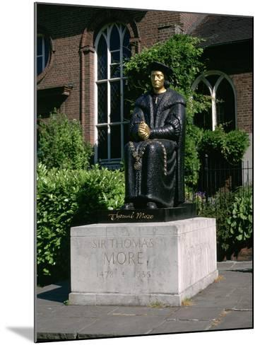 Statue of Sir Thomas More in Front of Chelsea Old Church, Cheyne Walk, London-Peter Thompson-Mounted Photographic Print
