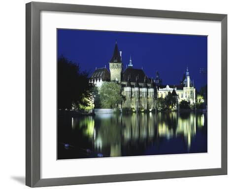 Vajdahunyad Castle in the City Park, Budapest, Hungary-Peter Thompson-Framed Art Print