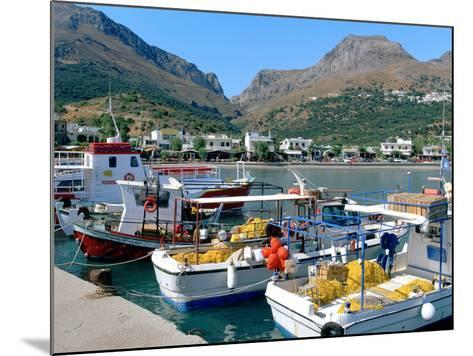 Fishing Boats in the Harbour, Plakias, Crete, Greece-Peter Thompson-Mounted Photographic Print