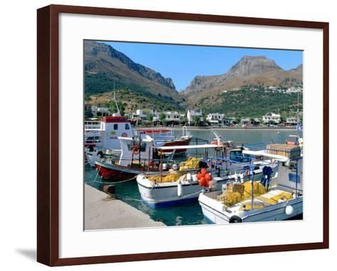 Fishing Boats in the Harbour, Plakias, Crete, Greece-Peter Thompson-Framed Art Print