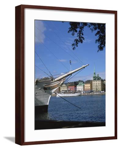 Af Chapman Sailing Ship (Youth Hostel), Stockholm, Sweden-Peter Thompson-Framed Art Print