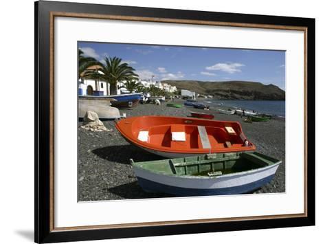 Fishing Boats, La Lajita, Fuerteventura, Canary Islands-Peter Thompson-Framed Art Print