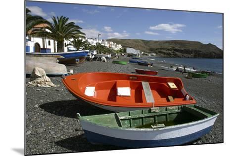 Fishing Boats, La Lajita, Fuerteventura, Canary Islands-Peter Thompson-Mounted Photographic Print