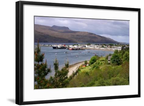 View of Ullapool Harbour, Highland, Scotland-Peter Thompson-Framed Art Print