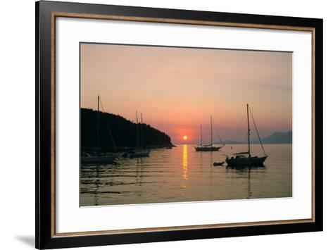 Sunset, Cavtat, Croatia-Peter Thompson-Framed Art Print
