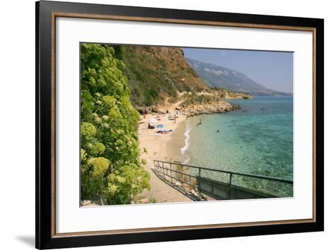 Agios Thomas Beach, Kefalonia, Greece-Peter Thompson-Framed Art Print