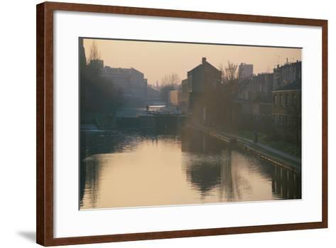 Regents Canal, London-Peter Thompson-Framed Art Print