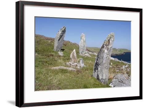 Standing Stones, Great Bernera, Isle of Lewis, Outer Hebrides, Scotland, 2009-Peter Thompson-Framed Art Print