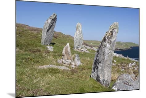 Standing Stones, Great Bernera, Isle of Lewis, Outer Hebrides, Scotland, 2009-Peter Thompson-Mounted Photographic Print