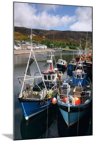 Fishing Boats, Ullapool Harbour, Highland, Scotland-Peter Thompson-Mounted Photographic Print