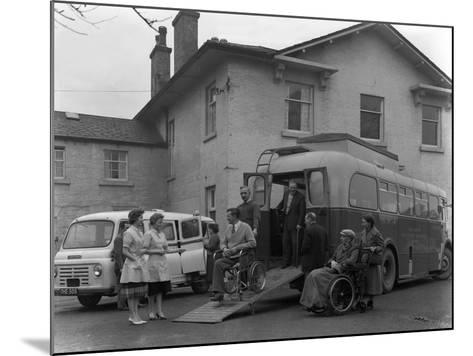 Paraplegic Bus, Pontefract, West Yorkshire, 1960-Michael Walters-Mounted Photographic Print