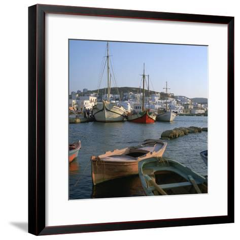 Noussa Harbour in the Evening-CM Dixon-Framed Art Print