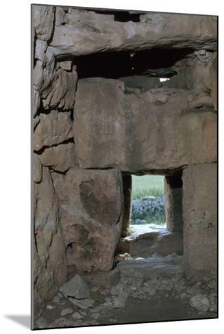 Naveta at Els Tudons, an Interior View, C.2000 Bc-CM Dixon-Mounted Photographic Print