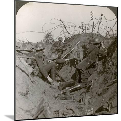 Observation Officer and Signallers Keep a Sharp Lookout, St Quentin, France, World War I, 1914-1918--Mounted Photographic Print
