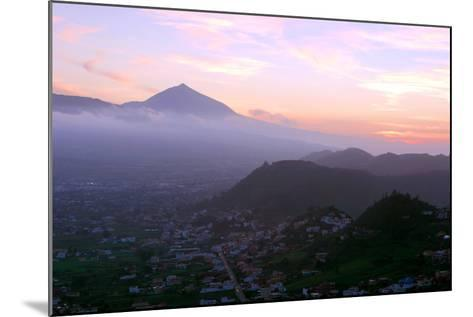 Sunset Behind Mount Teide, Volcano on Tenerife, Canary Islands, 2007-Peter Thompson-Mounted Photographic Print