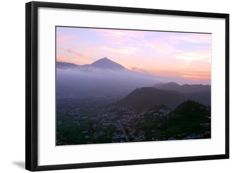 Sunset Behind Mount Teide, Volcano on Tenerife, Canary Islands, 2007-Peter Thompson-Framed Art Print