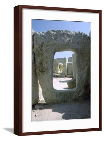 Hagar Qim Temple on Malta, 3rd Century Bc-CM Dixon-Framed Art Print