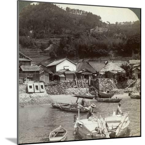 Fishing Village of Obatake on the Inland Sea, Looking North to the Terraced Rice Fields, Japan-Underwood & Underwood-Mounted Photographic Print