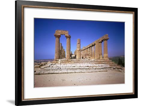 The Doric Temple of Hera at Agrigento, 5th Century Bc-CM Dixon-Framed Art Print