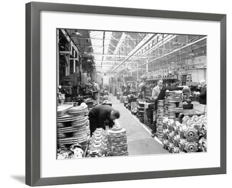 Machine Shop at Ariel Motors, C1950--Framed Art Print