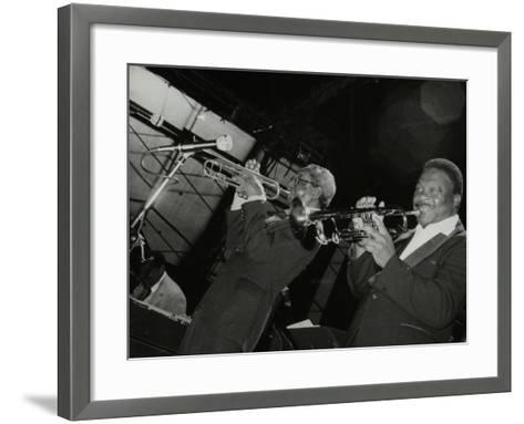 Trumpeters Joe Newman and Cat Anderson at the Newport Jazz Festival, Middlesbrough, 1978-Denis Williams-Framed Art Print
