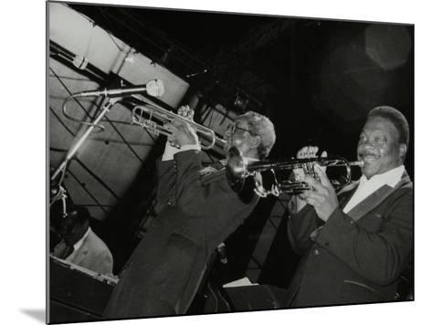 Trumpeters Joe Newman and Cat Anderson at the Newport Jazz Festival, Middlesbrough, 1978-Denis Williams-Mounted Photographic Print